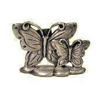Set of 12 Place Card Holders - Pewter Butterfly