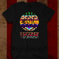 5SOS 5 Seconds Of Summer Ethnic Logo Black and White T Shirt Unisex Size - AR003