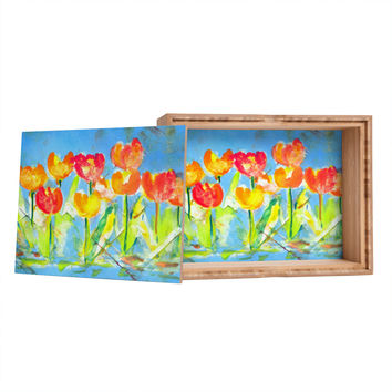 Laura Trevey Spring Tulips Storage Box