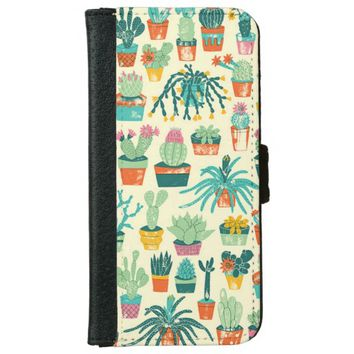 Cactus Pattern iPhone 6 Wallet Case