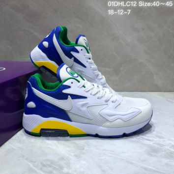 KUYOU N860 Nike Air Max 2 Light New Cushion Casual Running Shoes White Blue Green