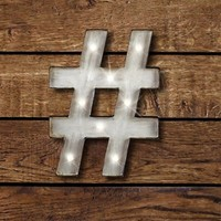 Hashtag LED Marquee Sign