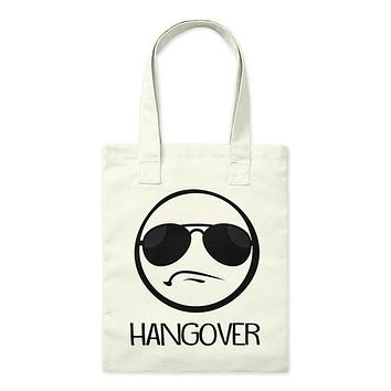 Hangover Frowning Emoji Face Funny Tote Bag