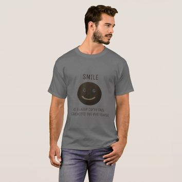 Bokara Grey Smiley Face T-Shirt