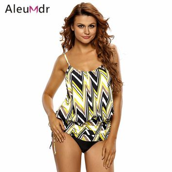 7d283cf37bab5 Aleumdr Plus Size Bathing Suit Women One Piece Print Spaghetti S