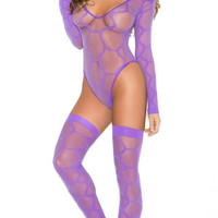 Hexagon Teddy with Matching Stockings