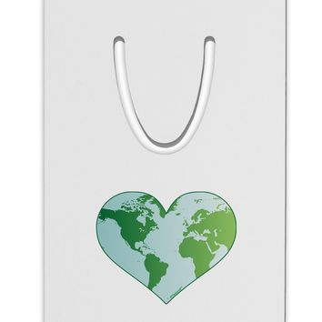 World Globe Heart Aluminum Paper Clip Bookmark