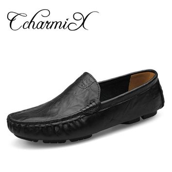 Genuine Leather Handmade Men Dress Men Flats Male Office Shoe Moccasins Hombre