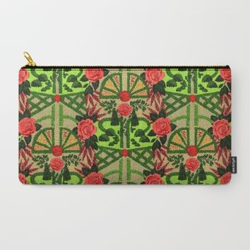 ENGLISH GARDEN Carry-All Pouch by Colette Van Der Wal