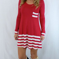 Homerun Tunic: Red