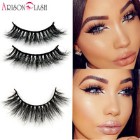 1 ps 3D Mink False Eyelashes 100% Real Mink fur Handmade Crossing Lashes Natural Long D006 Full Strip Lashes Thick Arison Lashes