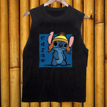 Stich black tanktop for men and women
