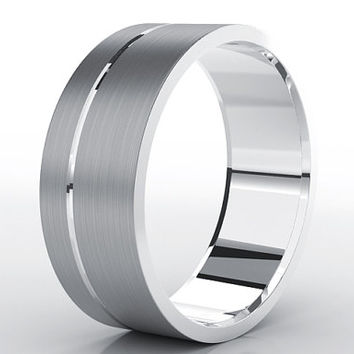 Mens Tungsten Wedding Band 8mm Tungsten Brushed Tungsten Custom Tungsten Ring Unique Mens Wedding Band Tungsten Wedding Band Man Carbide