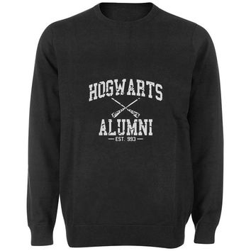 hogwarts alumni sweater Black and White Sweatshirt Crewneck Men or Women for Unisex Size with variant colour