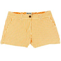 Women's Shorts in White and Orange Seersucker by Olde School Brand - FINAL SALE