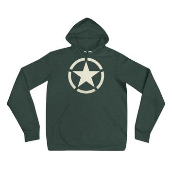 WW2 Circled Star Unisex Sponge Fleece hoodie