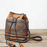 Yolu Womens Jaque Mochila Woven Bucket Bag