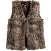 Faux Fur Vest - from H&M