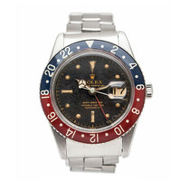 Rolex Stainless Steel GMT-Master Wristwatch with Bakelite Bezel Ref 6542