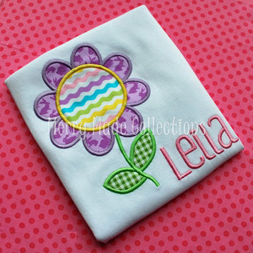 Spring Flower Appliqué/Monogrammed Shirt - Holiday and Easter