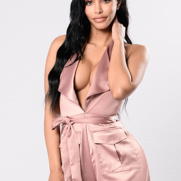Fire's Found A Home In Me Romper - Mocha