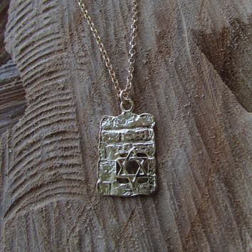 Western Wall Pendant on a Chain