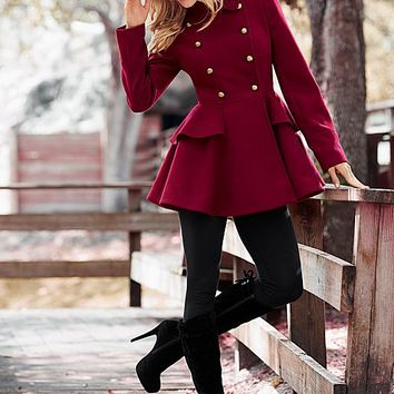 Women's Peplum coat, leggings