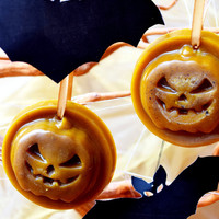 Halloween or Christmas melts-beeswax or soy tarts-Set of 2-Scented pumpkin ornament-Christmas tree ornament-home fragrance-wax melt tart