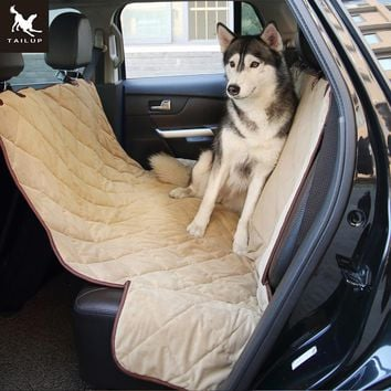 Soft Pet Car Seat Quilted Covers Waterproof Rear Bench Trunk Mat