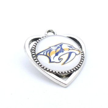 Pendant Accessories NHL Nashville Predators Charms Accessories for Bracelet Necklace for Women Men Ice Hockey Fans Paty 2017