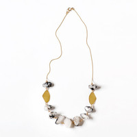 Quartz Statement Necklace , Black Tourmalinated Quartz Necklace