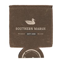 Waxed Cotton Drink Holder in Brown by Southern Marsh