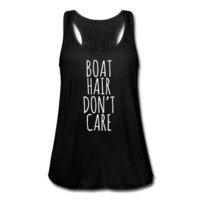 Boat Hair Don't Care, Women's Flowy Tank Top by Bella