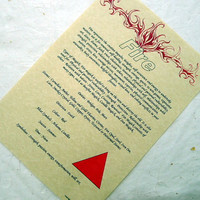 FIRE ELEMENT CORRESPONDENCE parchment poster chart wicca pagan art witch book of shadows page