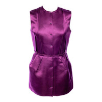 Lanvin deep purple winter 2007 sleeveless dress
