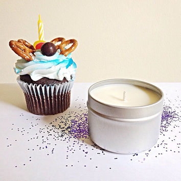 Birthday cake vanilla soy candle  mothers day gift for her birthday teacher gift kitchen decor apartment