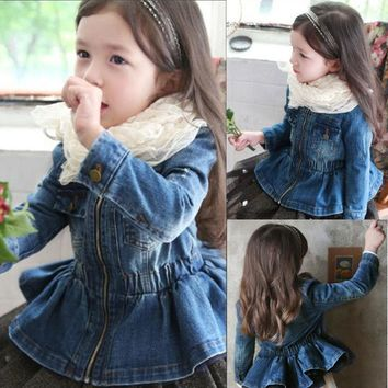 Trendy Hot Sale Infant Baby Boys Girls Coats 2018 New Autumn O-neck Kids Jackets for Girl 3-10Y Cotton Sweet Children Clothing 3jk095 AT_94_13