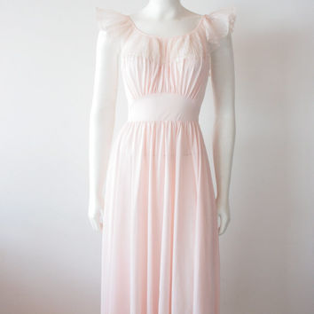 Fifties Vanity Fair Bohemian Pink Negligee Sun Dress for Hot Summer Days
