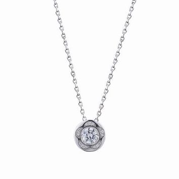 Pentagon Shaped Swarovski Crystal Necklace