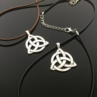 Celtic Knot Necklace- Silver Celtic Knot Irish Jewelry Celtic Jewellery