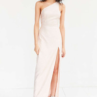 Silence + Noise Metallic One-Shoulder Maxi Dress | Urban Outfitters