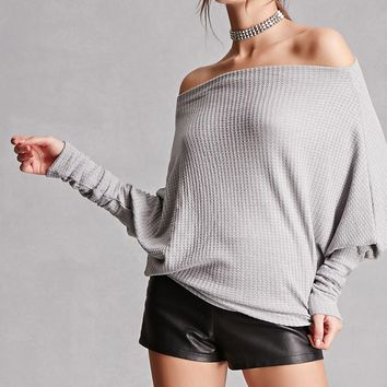 Textured Batwing Top