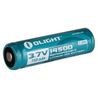 14500 Rechargeable Battery, 750mAh