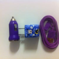 iPhone Minnie Mouse charger set by GJGdesigns on Etsy