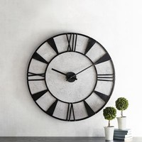 Magnolia Home Industrial Metal Wall Clock