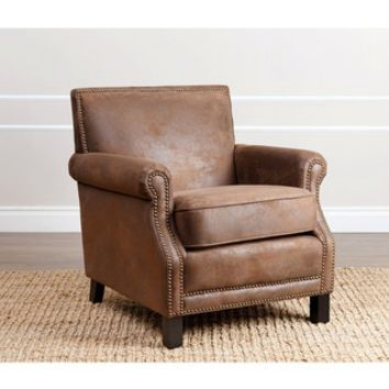ABBYSON LIVING Chloe Antique Brown Fabric Club Chair - 16980818 - Overstock - Great Deals on Abbyson Living Living Room Chairs - Mobile