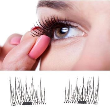 2017 new makeup Eyelashes Classic 3D Magnetic False Eyelashes Extension Tools Natural Makeup