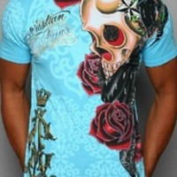 2013 new style CA ed hardy 100% cotton t shirt men's fashion short sleeve summer t shirts tops tees for men