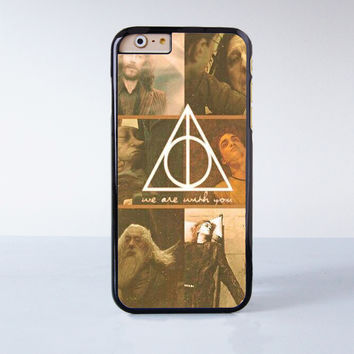 Deathly Hallows We are with you  Plastic Case Cover for Apple iPhone 6 6 Plus 4 4s 5 5s 5c