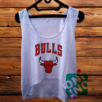 Chicago Bulls Crop Tank Women's Cropped Tank Top